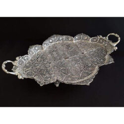 Filigree Silver Tray Bowl Dish Oval 9