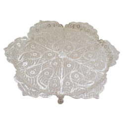 Filigree Silver Tray Bowl Dish Termeh