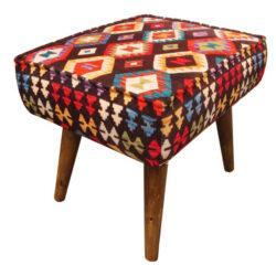 Persian Footstool Pouf Kilim Design MO5