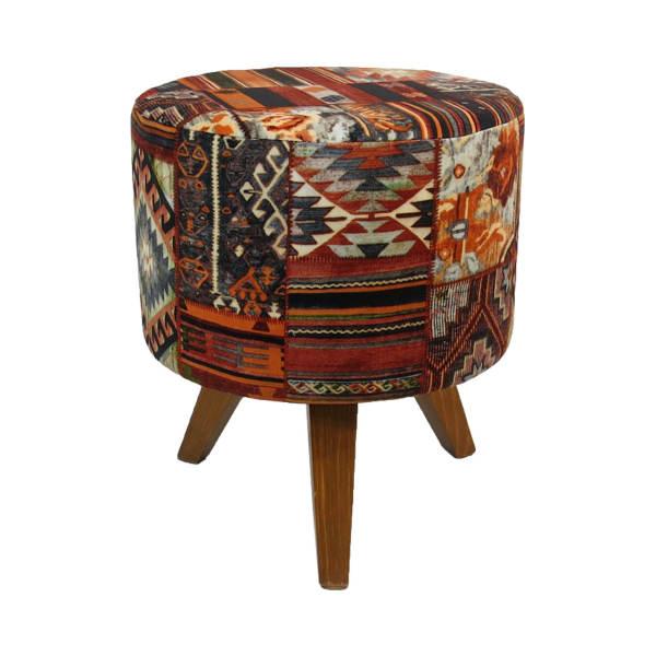 Handmade Persian Footstool Pouf Pamir