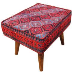 Persian Footstool Pouf Kilim Design MO2