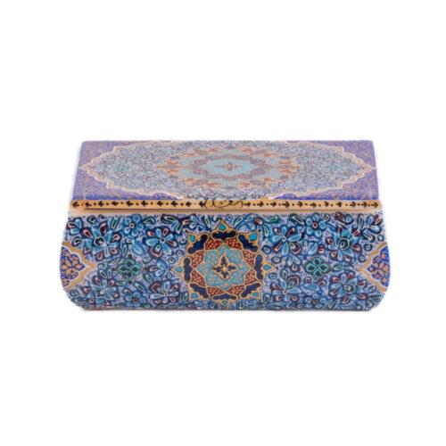 Persian Bone Jewelry box Handicraft Tazhib 121