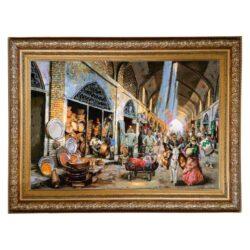 Handmade Persian Tableau Rug Bazaar Coppersmiths