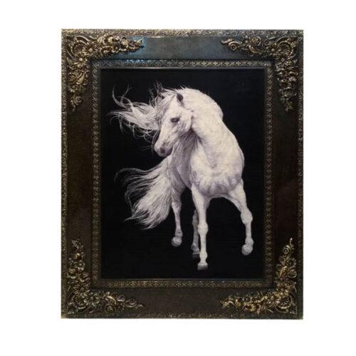 Handmade Persian Tableau Rug - Horse