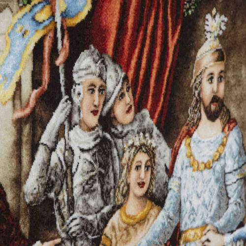 Handmade Persian Tableau Rug Coronation