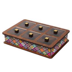Wooden Tea Bag Box 6045