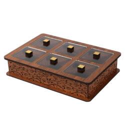 Wooden Tea Bag Box 6040