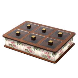 Wooden Tea Bag Box 6055