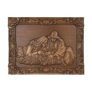 Wooden Carved Monabat Kari Tableau - Madar