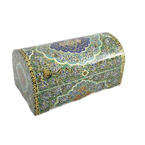 Persian Bone Jewelry box Handicraft CB9green