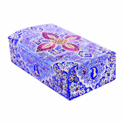 Persian Bone Jewelry box Handicraft Tazhib 1568