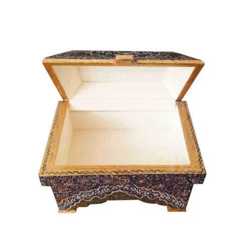 Persian Bone Jewelry box Handicraft Tazhib B210
