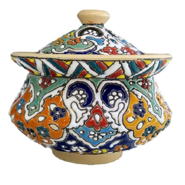 MinaKari Enameled Sugar Bowl Dish S14