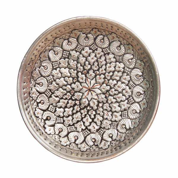Engraved Persian Copper Tray 5298