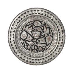 Engraved Persian Copper Tray Bird