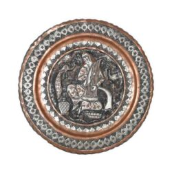 Engraved Persian Copper Tray 203