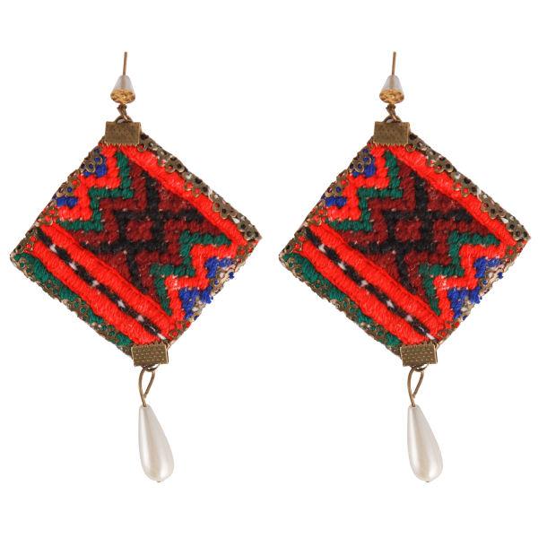 Balochi Embroidery Suzani Earrings 32