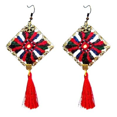 Balochi Embroidery Suzani Earrings B9