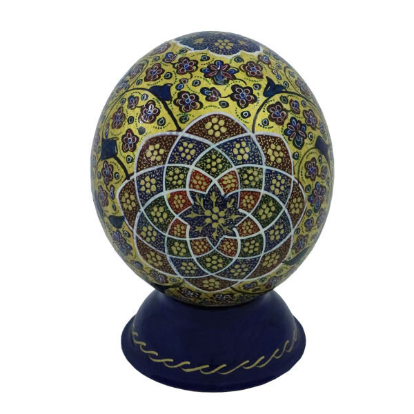 Ostrich Egg Shell Tazhib Model Bird