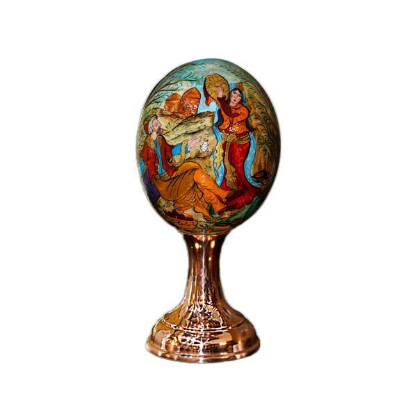 Decorative Ostrich Egg Shell Model Miniature