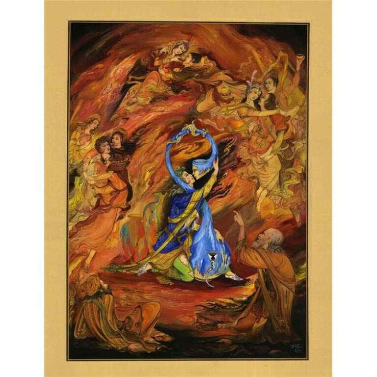 Persian Miniature Painting - Dance