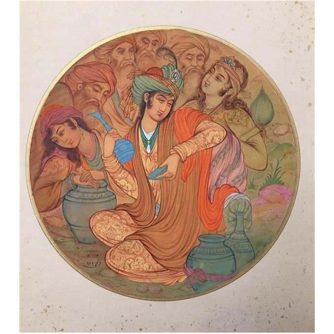 Persian Miniature Painting - Drink