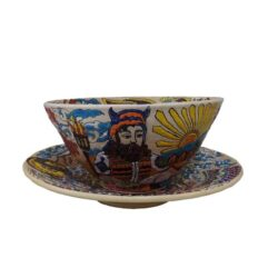 Set of Pottery Plate & Bowl Dish - Shahnameh