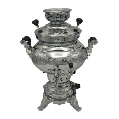 6 Liter Persian Gas Steel Samovar Model Pejman