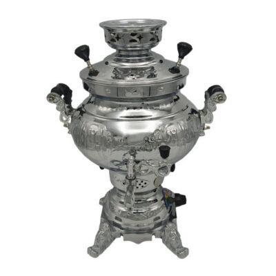 6 Liter Persian Gas Steel Samovar Model Pejman