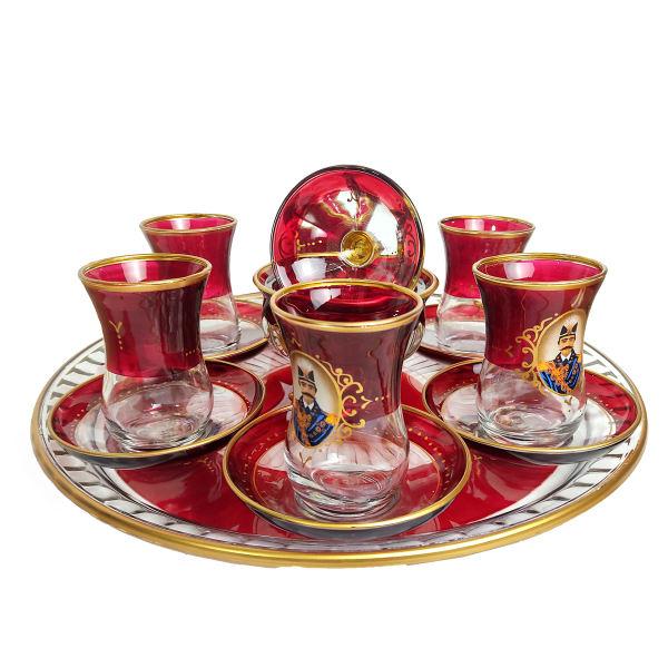 Set of Saucer & Tea Cup , Shah Abbas