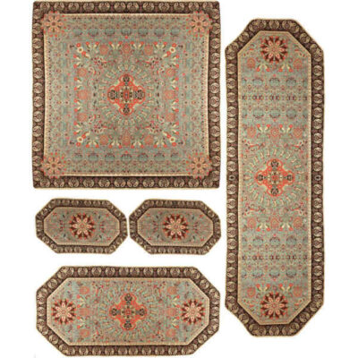 Set Of 5 Persian Termeh Tablecloth 02