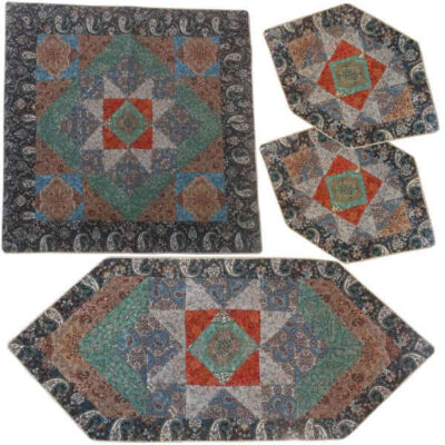 Yazd Termeh Tablecloth Set Of 5 - Chgh