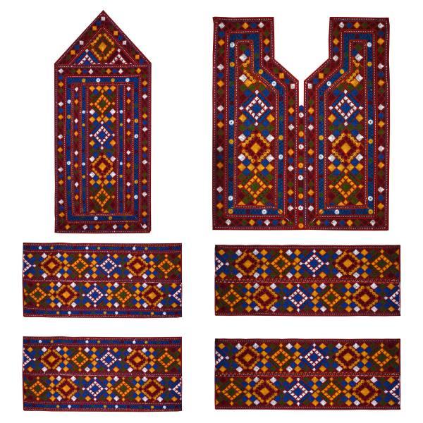 Balochi Needlework Dress Panel - Flower