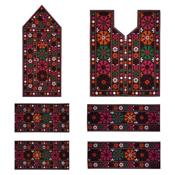 Balochi Dress Panel Embroidery Model Goldar