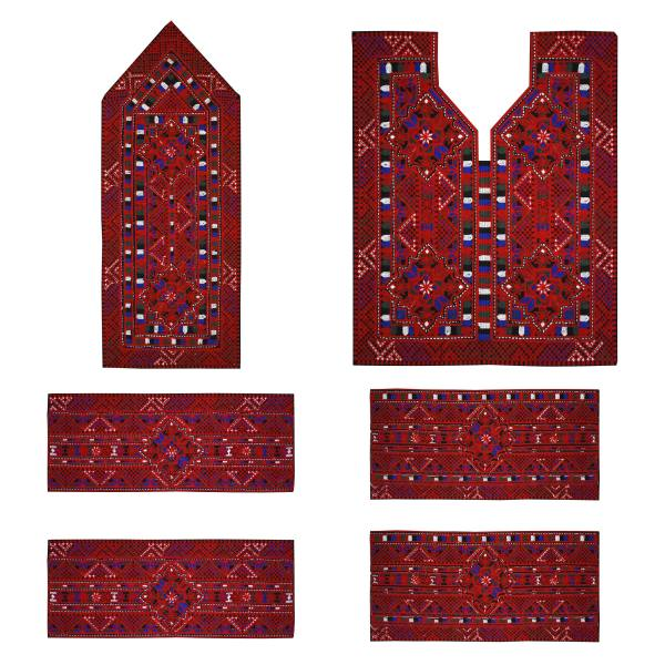 Balochi Embroidery Needlework Dress Panel - Mozaic