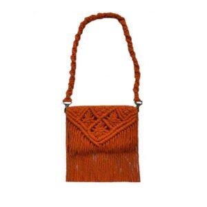 Women's Macrame Handbag Model Knitting