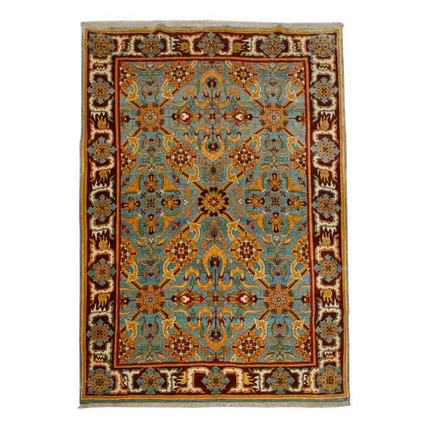 Hand Knotted Iranian Carpet Afshan Model Bijar