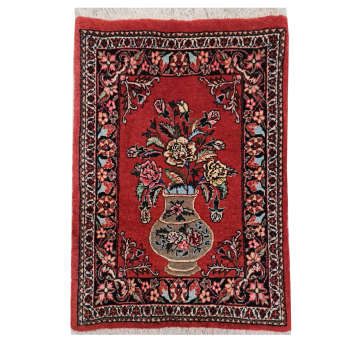 Bijar Handwoven Carpet Model Vase