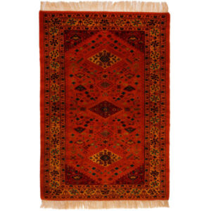 Persian Handmade Carpet Toranj Lachak Design