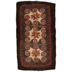 Iranian Handmade Felt Carpet Model Flower