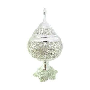 Iranian Malilehkari Silver Candy Bowl Dish