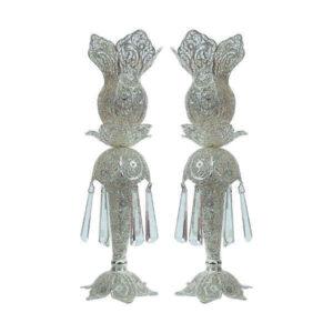 Iranian Filigree Silver Candlestick Model Laleh