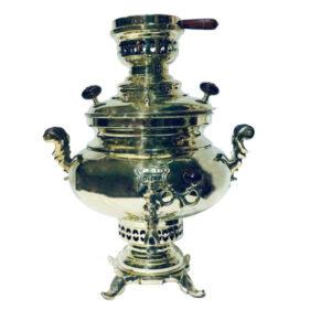 5.5 Liter Iranian Coal Brass Samovar Model Sarina