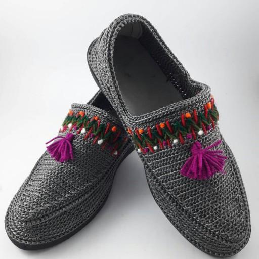 Handmade Silk Giveh Shoes Model Sonati