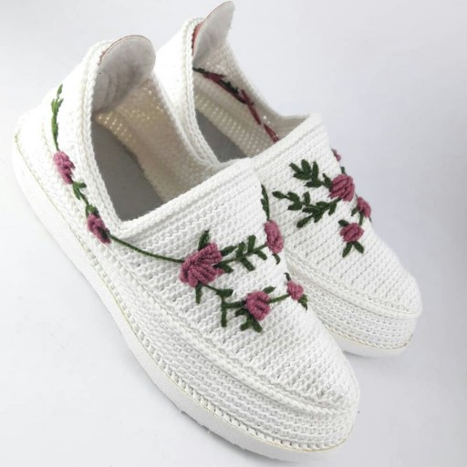 Handmade Silk Giveh Shoes Model Lale
