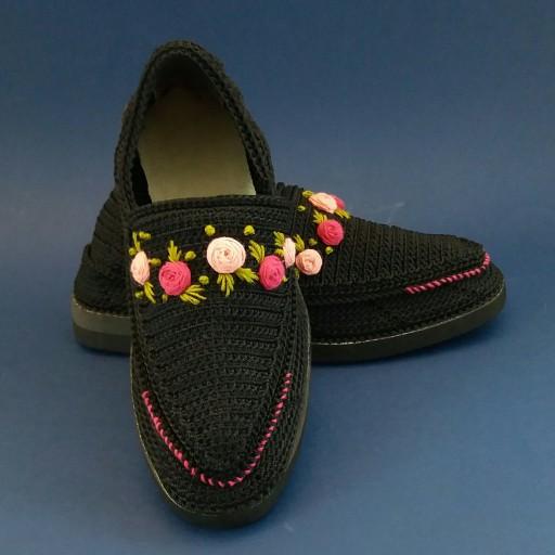 Handmade Silk Giveh Shoes Model Shokofeh