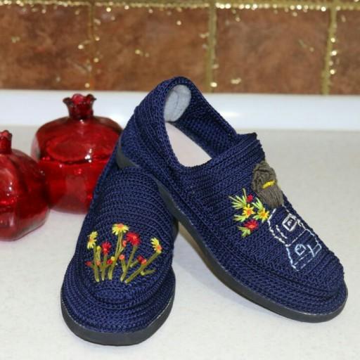 Handmade Silk Giveh Shoes Model Sadaf