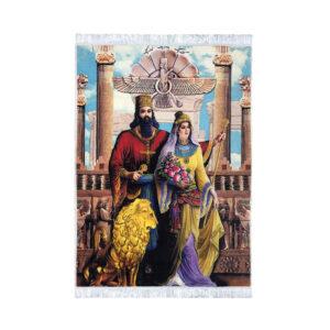 Pictorial Persian Tableau Rug - Cyrus & Mandana