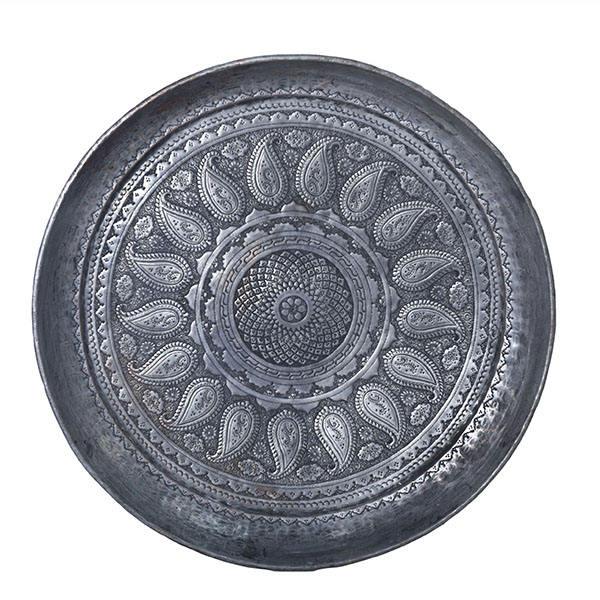 Persian Ghalamzani Copper Tray Model Termeh