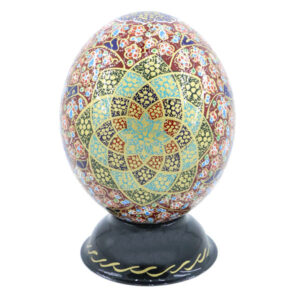 Inlaid Ostrich Egg Shell Model Mina